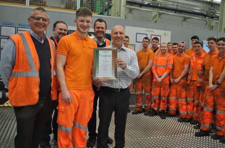 Best Engineering apprentice Liam Barnett at Bombardier